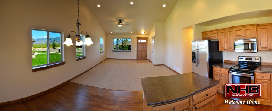 Large Common Area with Vaulted Ceilings