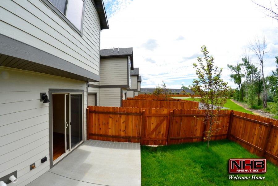 Fenced yards with patios