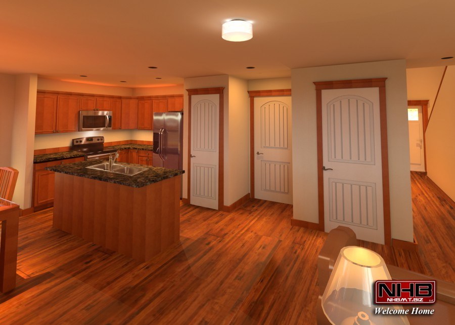Loaded Kitchen with Hardwood Floors